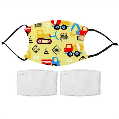 Kids Digger Pattern Face Mask